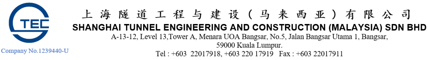 Shanghai Tunnel Engineering and Construction (Malaysia) Sdn Bhd